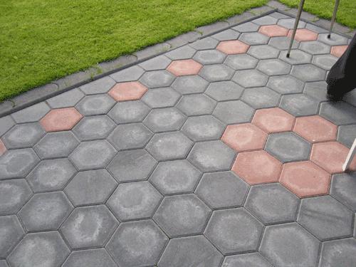 Pflastersteine Muster Beispiele : Harzer Betonwarenwerke  Waben Pflaster